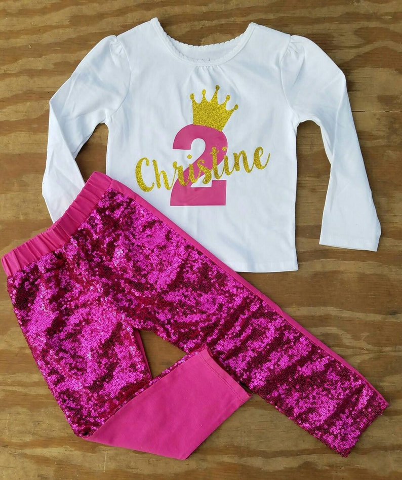 Second Birthday Outfit Two Year Old Girls Shirt