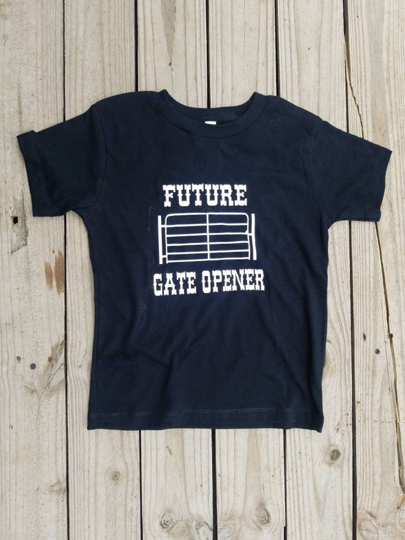 Western Wear Rodeo Attire Unisex Western Rodeos Tee Cowboys Funny Graphic Top Future Gate Opener Shirt Working Cattle Boys Pageant Wear