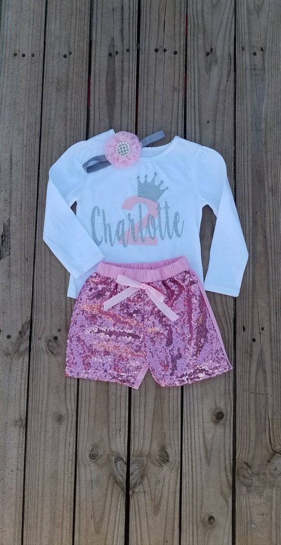 Two Year Old First Birthday Outfit Personalized Girl 2 Shirt