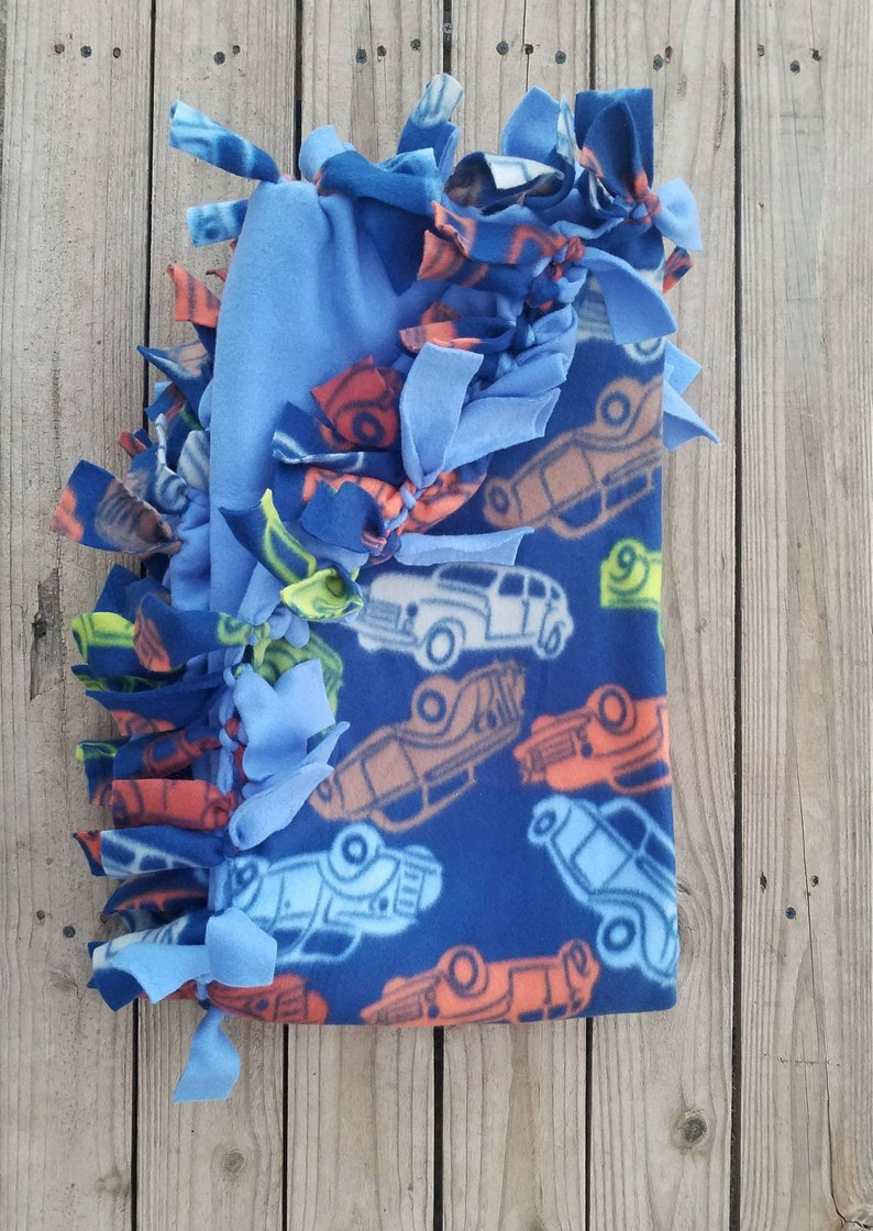 Cars Trucks Room Decorations Ready to Ship To Recipient Free Baby Shower Gift His No Sew Fleece Blanket or Throw Sporting Event Need