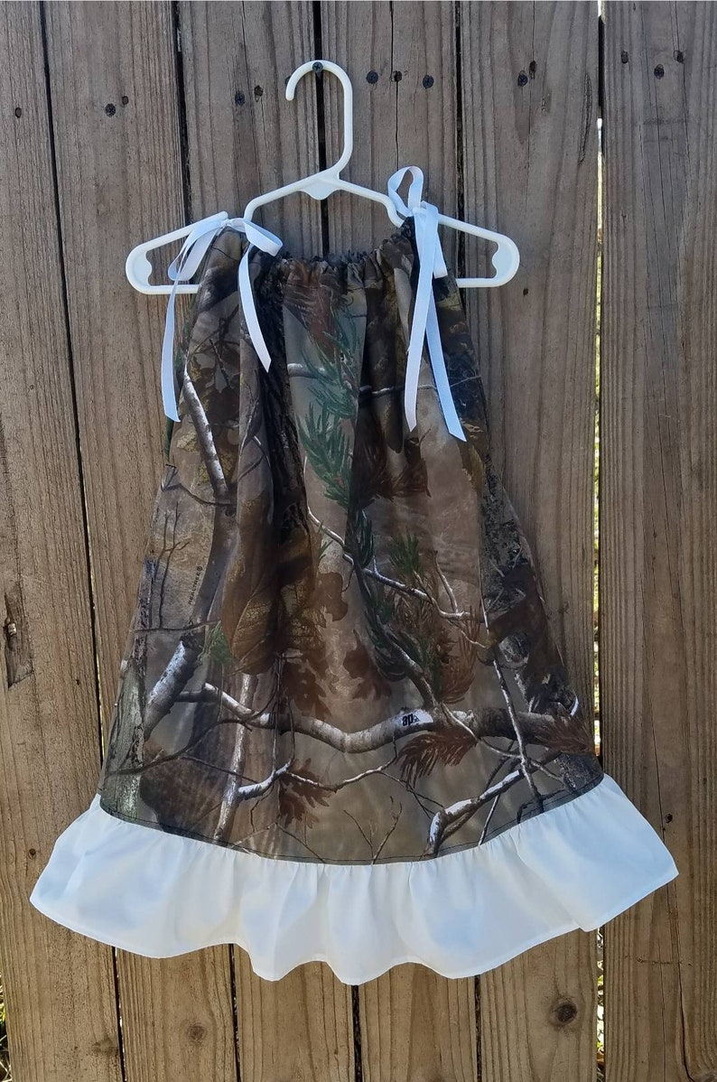 Camo Beach Wear Pillowcase Dress Flower Girl Outfit Camo Wear Baby Girls Wedding Dress Birthday Party Military Coming Home Clothing