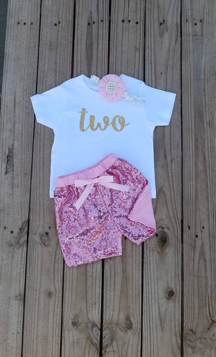 2 Jahre alt Geburtstag-Mädchen-Outfit zwei Jahre alt