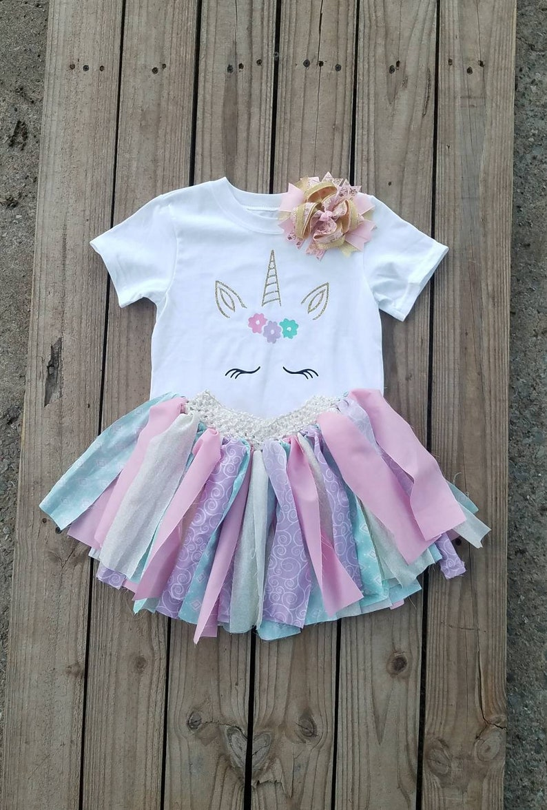 e05a90297a45 Girls Unicorn Dress 1 2 3 4 5 6 Year Old Girls Birthday | Etsy