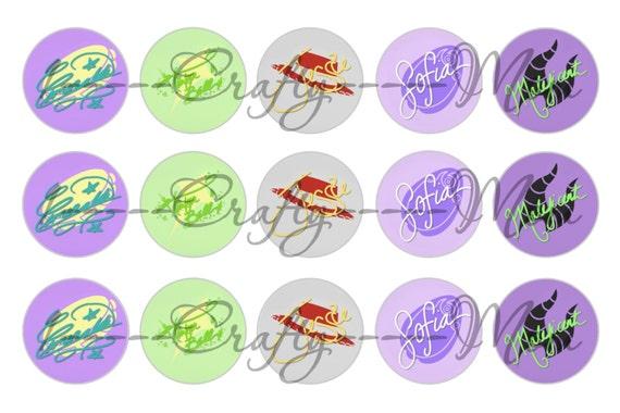 60 Disney Princess Signature Autograph Icon Symbol Bottle Cap Etsy