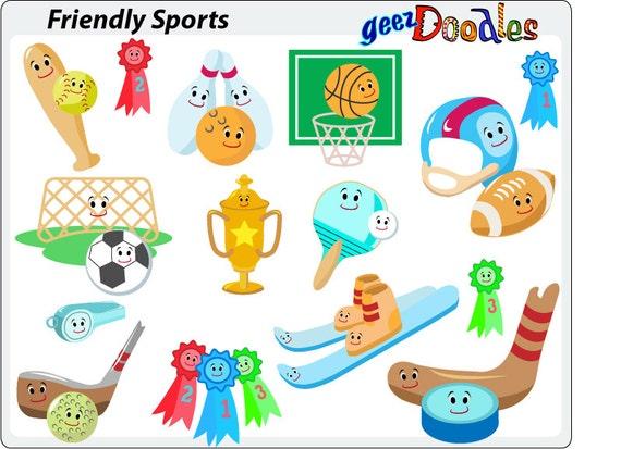 Sport Cliparts Sportgerate Fur Kinder Fussball Baseball Fussball Basketball Golf Hockey Tischtennis Bowling Blaues Band Skifahren