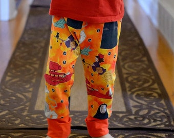f56ba6a8d37537 Ghibli kids, grow with me pants, baby leggings, my neighbor totoro,  spirited away, princess mononoke, anime clothing, miyazaki baby
