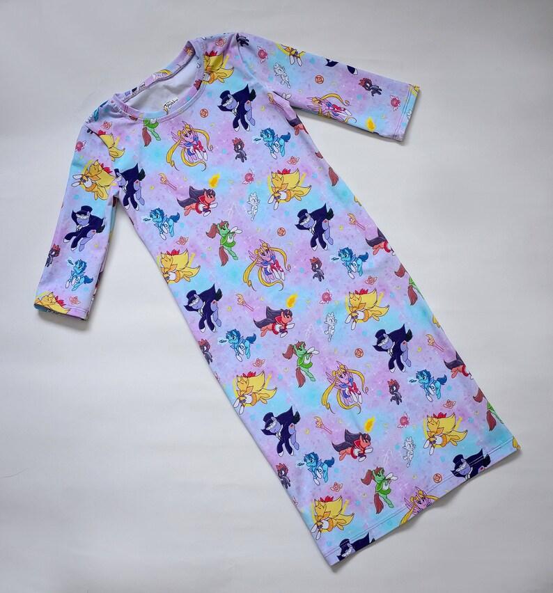 sailor moon, tshirt dress, my little pony, magical girl, sailor scouts,  girl power, tuxedo mask, MLP birthday, 90's cartoon, kawaii kids