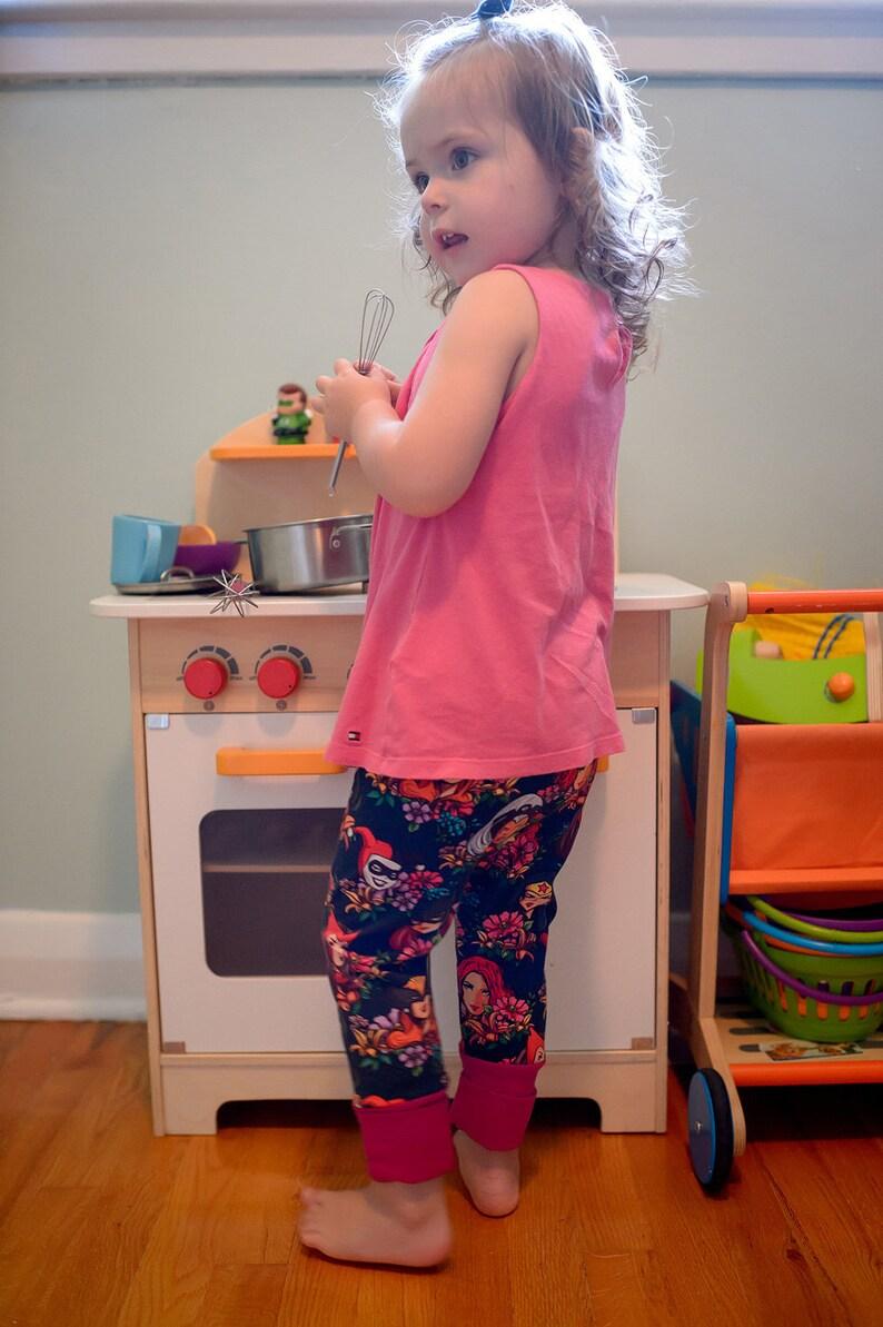 a42b49d333fce Floral Superhero leggings Female superhero grow with me | Etsy