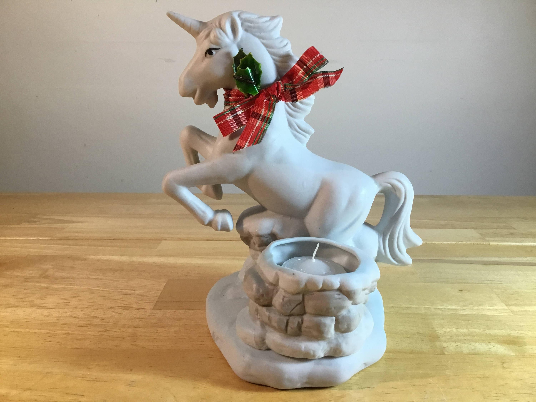 Unicorn Candle Holder, White Unicorn, Ceramic Unicorns ...