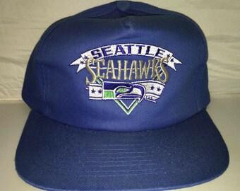 c1dfba17802 Vintage Seattle Seahawks Snapback hat cap rare 90s NFL Football rare  russell wilson