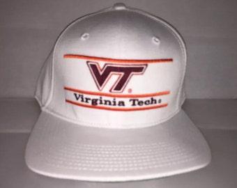7f31cd31367 Vintage Virginia Tech Hokies Snapback hat cap rare The Game NCAA College  football nwt