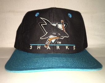 huge selection of 5be29 5cd14 low price vintage san jose sharks snapback hat cap rare 90s nhl hockey  stanley cup playoffs