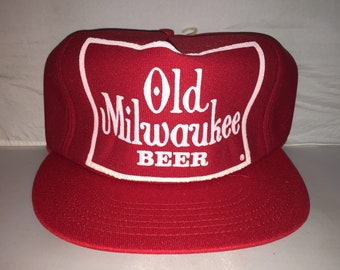 64f929e6bdfbf Vintage Old Milwaukee Beer Snapback hat cap rare 90s deadstock brew frat  party college alcohol
