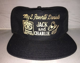 3ad57692 Vintage My 2 favorite jack daniels charlie daniels band country alcohol Snapback  hat cap rare 80s deadstock made in usa