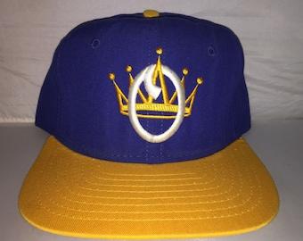 Vintage Omaha Royals Snapback hat cap rare 90s defunct Minor League  Baseball MiLB 16a901df52cb
