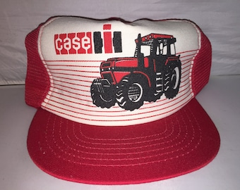 4eb477d50d5 Vintage Case Snapback hat cap 80s Made in USA equipment tractor farming rare