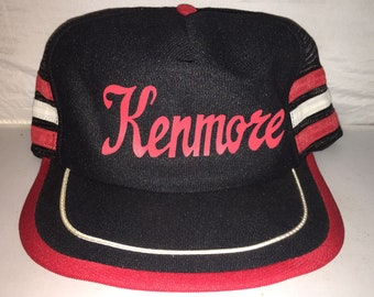 Vintage Kenmore trucker Snapback hat cap rare 80s tri 3 stripe MADE IN USA 34cecb133607