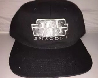 e3d29c2e45e Vintage Star Wars Episode 1 one dark side Snapback hat cap rare 90s  deadstock trilogy obi wan darth maul