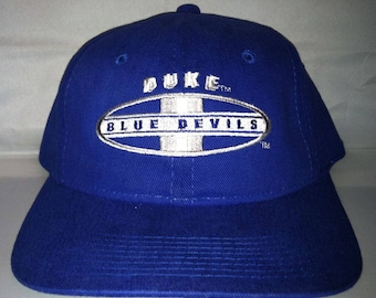 9542ba72722 Vintage Duke Blue Devils Snapback hat cap rare 90s NCAA College basketball  og grant hill Sports Specialties