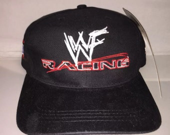 b57968cae67 Vintage WWF Strapback hat cap rare 90s deadstock wrestling new the rock  stone cold undertaker triple h snapback