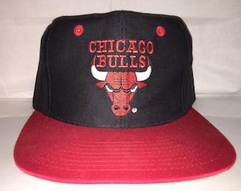 9822ca9fbfd Vintage Chicago Bulls Snapback hat cap rare 90s NBA jordan pippen og  basketball rodman