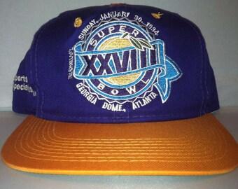 Vintage Super Bowl XXVIII Snapback hat cap rare 90s Sports Specialties NFL  football f66d24403