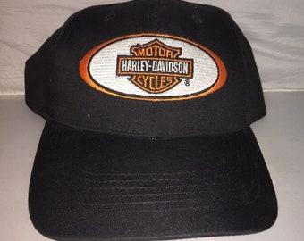75dc04dff86d5 Vintage Harley Davidson Strapback hat cap rare 90s Motorcycle mc club hog  bike