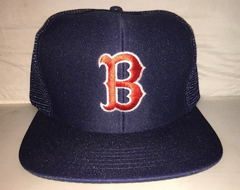 Vintage Boston Red Sox Snapback hat cap rare 80s MLB Baseball trucker  Universal fenway 931572e5ff74