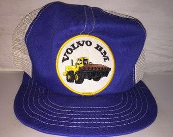 3a3c9b4556849 Vintage Volvo BM Patch hat snapback cap Trucker equipment power 80s 70s  rare canada