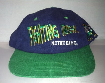 d69c6b77 Vintage Notre Dame Fighting Irish Snapback hat cap rare 90s NCAA College  Football
