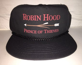 Vintage Robin Hood Prince of Thieves Movie Snapback hat cap rare 90s Kevin  Costner deadstock aa128561656a