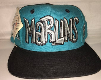 Vintage Florida Miami Marlins Snapback hat cap rare 90s nwt deadstock og  MLB Baseball graffiti d0e54483b09