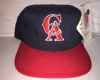 37d96e5071a Vintage California Anaheim Angels Sports Specialties Snapback hat cap rare  90s NWT MLB Baseball plain logo