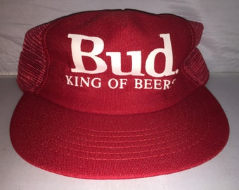 Vintage Budweiser King of Beers bud Snapback hat cap deadstock 90s brew  party frat college made in usa 8eab3ef09133