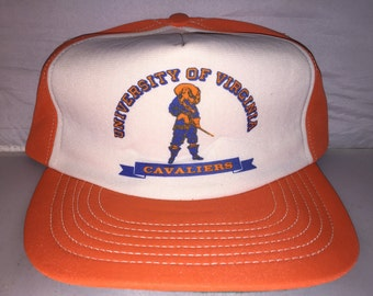 Vintage University of Virginia Cavaliers Snapback hat NCAA College 80s MADE  In USA rare 9724993400f7