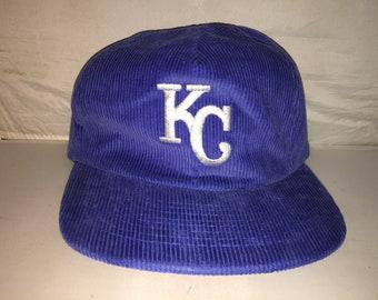92f71b8c7bf Vintage Kansas City Royals Strapback hat cap Corduroy MLB Baseball nwot  deadstock