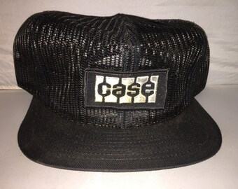 19f39081c12 Vintage Case Full Mesh Snapback hat cap 80s Louisville MFG Made in USA  equipment tractor farming
