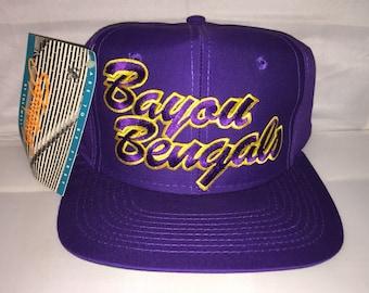 Vintage LSU Tigers Louisiana State University Bayou Bengals Snapback hat cap  rare 90s deadstock ncaa college football 05161bbf0f7f