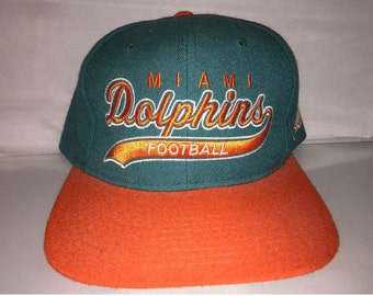 Vintage Miami Dolphins Script Snapback hat cap NFL Football 90s deadstock  nwot Starter Dan Marino 079d5c57d