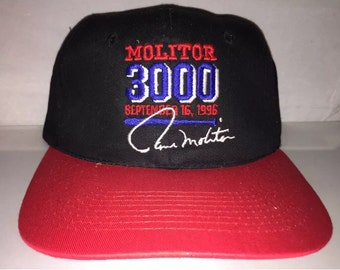 low priced d4c59 08480 Vintage Paul Molitor 3000 Hits Minnesota Twins Snapback hat cap rare 90s MLB  baseball