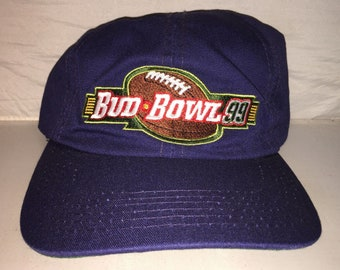 4686b4dd52f Vintage Budweiser King of Beers Bud Bowl 1999 Snapback hat cap rare brew  football party super bowl