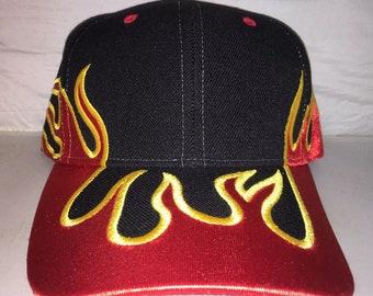 f4df193ceb35b Vintage Flames fire travis scott hype hat cap dad hat og hip hop rap cactus  jack deadstock