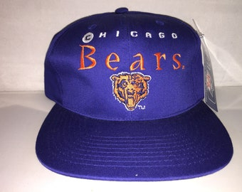 fd10236400d3a Vintage Chicago Bears Snapback hat cap rare NFL football defense ditka  walter payton 90s new with tags