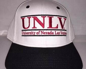 875b46bc654 Vintage UNLV Running Rebels Las Vegas The Game bar Snapback hat cap rare  deadstock NCAA College basketball