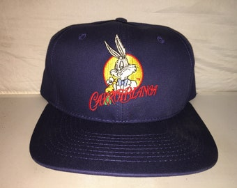 6822fd64e74b Vintage Carrotblanca Bugs Bunny Looney Tunes Snapback hat cap rare 90s  warner bros cartoon deadstock space jam