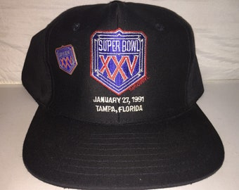 62f21087f34 Vintage Super Bowl XXV Snapback hat cap rare 90s new york giants NFL  Football