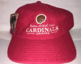 b68b09a9413419 Vintage Arizona Cardinals Strapback hat cap wool leather brim NFL Football  nwt deadstock