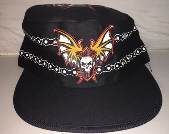 Vintage Live to Ride Painters hat cap Harley Davidson skull mc motorcycle  club samcro 80s 1027135320f