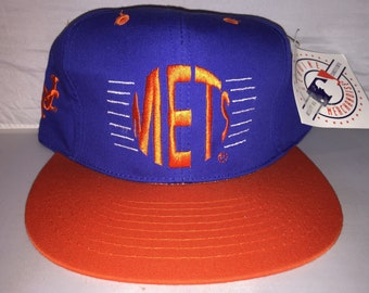 51b456f45a71c Vintage New York Mets Snapback hat cap rare 90s Annco MLB Baseball  strawberry doc gooden