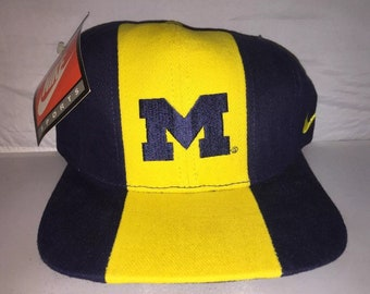 brand new 6101b 8d260 ... official vintage michigan wolverines nike og adjustable hat cap rare  90s deadstock ncaa college football 234bb